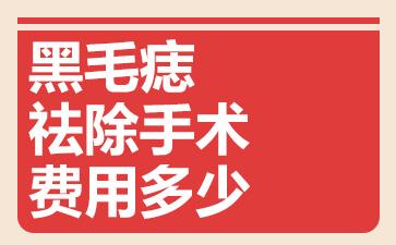 上海做胎记医院有几家:黑毛痣祛除手术费用多少