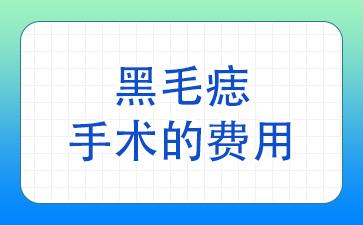 上海做胎记手术哪家医院好:黑毛痣手术的费用